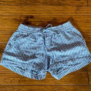 Old Navy medium blue/white pinstripe shorts